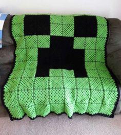 Minecraft Creeper Crochet Blanket