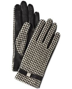 Lauren Ralph Lauren Houndstooth Hybrid Touch Gloves