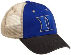 NCAA Men's Duke Blue Devils Wishbone Cap (Royal, One Size) by Top of the World. $10.12. cotton. 3D Embroidery. China. Adjustable. 100% Washed Cotton And Mesh. Wishbone Is A Washed Cotton And Mesh Adjustable Tri-Tone Cap. The Front Logo Is 3D Embroidery. The Back Has A Free Flying Woven Label On Plastic Snap Tab.