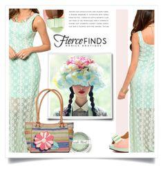 """Win Lace Maxi Dress with Fierce Finds"" by ewa-naukowicz-wojcik ❤ liked on Polyvore featuring Rosetti, Pastel Pairs and fiercefinds"