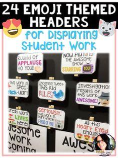 Emoji Display Headers for Student Work!