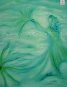 Título: Aliento Obra de Arte en Oleo y Acrílico sobre tela.  Disponibilidad a la venta /For sale montserratmaciel.com