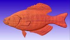 Crappy Fish Vector Relief Model - CNC Vector Art