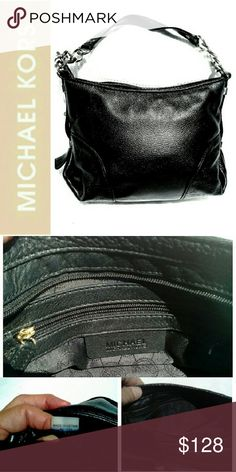 ". MICHAEL KORS JET SET BLACK CHAIN BAG  NWOT MICHAEL KORS JET SET BLACK CHAIN BAG Beautiful Soft Leather w/Good Metal Chain & Leather Strap *.  Inside Interior has 1 Zipper Compartment  *.  Other Side of Interior has 1 Compartment *.  Leather & Gold Color Chain (Drop 9 1/2"") *.  Measurements L 8"" X W 10"" Small *.  #AV-1101 Michael Kors Bags Shoulder Bags"