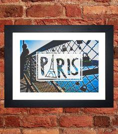 Items similar to Pont de l'Archeveche - Love Lock Bridge Print on Etsy Love Lock Bridge, My Etsy Shop, Digital, Frame, Handmade Gifts, Prints, Vintage, Picture Frame, Kid Craft Gifts
