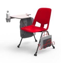 "American Seating ""US"" student chair Modern Classroom, Classroom Desk, Classroom Furniture, School Furniture, School Chairs, School Desks, Chair Design, Furniture Design, Student Chair"
