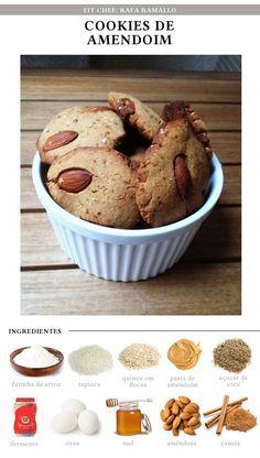 Fit Chef: Cookies de amendoim | CAROL BUFFARA