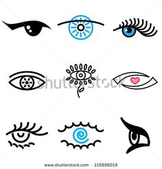 eye icons in vector