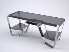 METAL/GLASS DESK