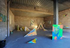 Helen Shaddock's recent residency at The Market Gallery in Glasgow - Photo of Studio Project