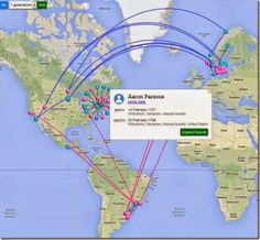 RootsMapper The goal of RootsMapper to is to allow you to visualize the origins of your ancestors and see how they migrated. We utilize the Google Maps API to plot and link up your family tree data that is pulled directly from FamilySearch.org in real-time.""