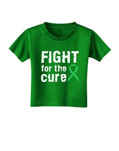 TooLoud Fight for the Cure - Light Green Ribbon Celiac Disease Toddler T-Shirt Dark