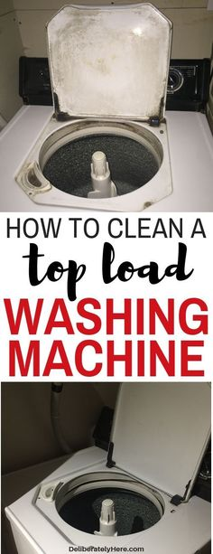 How to clean a washing machine. How to clean a top load washing machine naturally. House cleaning tips. How to clean washing machines. 10 steps to clean a top loading washing machine with natural products. How to clean washin Deep Cleaning Tips, House Cleaning Tips, Cleaning Solutions, Spring Cleaning, Cleaning Products, Move In Cleaning, Diy Home Cleaning, Weekly Cleaning, Bathroom Cleaning Hacks