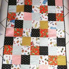 Toby's Quilt  #buttonandlou #babyquilt #homemade #babygift #drseuss #giftforboys…
