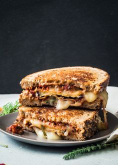 Eggplant Parm Grilled Cheese Sandwich