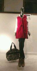 In the window: Janska vest; Tribal tunic blouse; Brighton travel bag; Bella Vita ankle boots