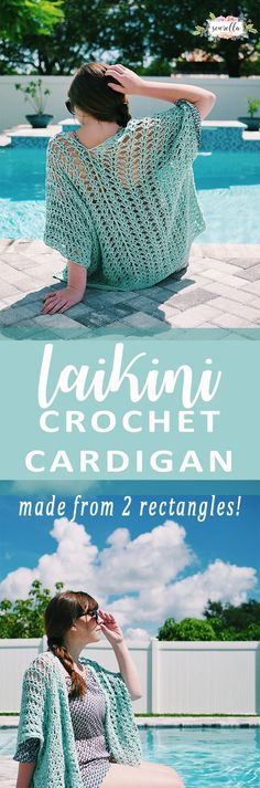 Crochet Laikini Cardigan - make this easy sweater wrap shrug with two crochet rectangles in a weekend. You'll need one in every color!