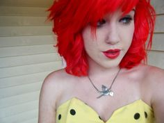 Red fire hair