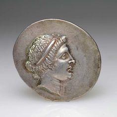 """AIOLIS, Kyme tetradrachm circa 150-145 AD, early style """"a Roman silver coin"""" ."""