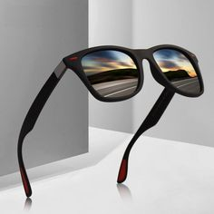 189667638bd Protect your eyes with the stylish men women classic polarized driving  square frame sunglasses.