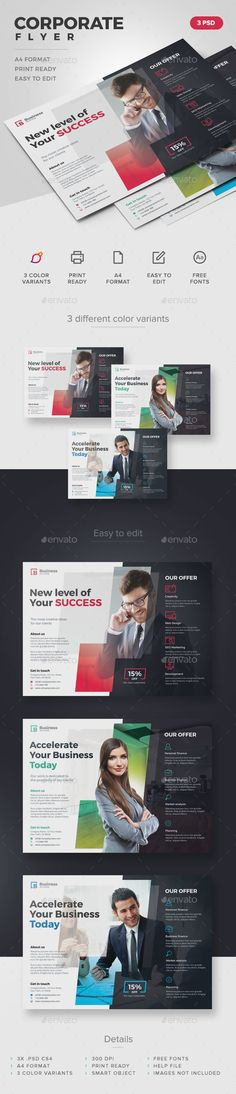 Corporate Flyer  — PSD Template #agency #consulting • Download ➝ https://graphicriver.net/item/corporate-flyer/15077174?ref=pxcr