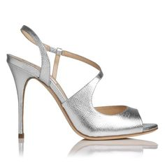LK Bennett silver evening shoes