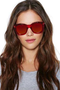 NG X Le Specs Runaways Shades - Red
