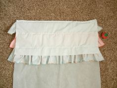 This gorgeous Ruffled Crib Skirt is the perfect addition for your new little bundle of joy's nursery! It also works perfectly for a little girl or boy. Crib Bed Skirt, Crib Skirts, Crib Bedding, Crib Skirt Tutorial, Ribbon Retreat, Diy Crib, Baby Pillows, Girls Bedroom, Cribs