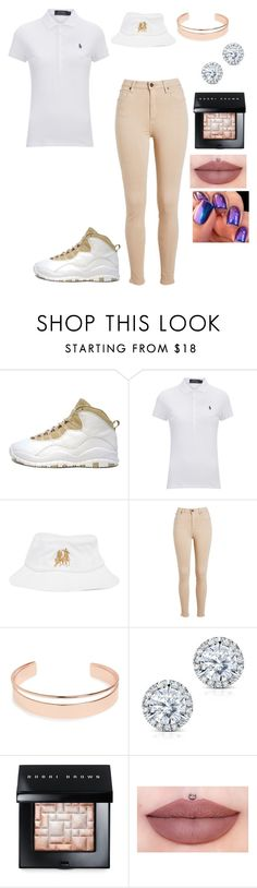 """""""Polo power"""" by sweet-brownsuga ❤ liked on Polyvore featuring Retrò, Polo Ralph Lauren, Breezy Excursion, Leith, Kobelli and Bobbi Brown Cosmetics"""