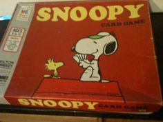 Vintage 1974 Milton Bradley Co Snoopy Card Game