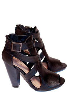 The Tallulah Sandal Bootie - Black