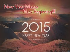 New Year Means New Beginning!!!!