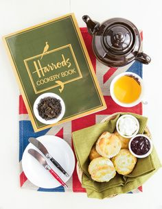 A few years back, one of the highlights of my trip to London was taking tea at the Georgian Restaurant at Harrods. In between greedy bouts of shopping, what b Recipes Appetizers And Snacks, Tea Recipes, Scone Recipes, Desserts, Copycat Recipes, Georgian Restaurant, English Scones, Cookery Books, Dried Cherries