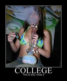 weed College girls smoking