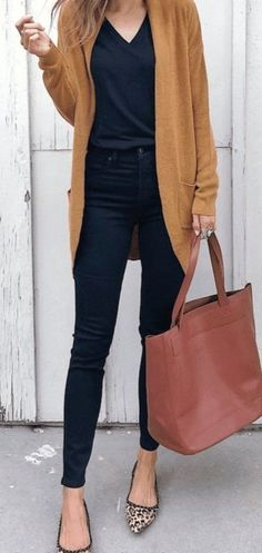 casual outfits for women / casual outfits ; casual outfits for winter ; casual outfits for women ; casual outfits for work ; casual outfits for school ; Legging Outfits, Leggings Outfit Fall, Cardigan Outfits, Dress And Cardigan, Brown Cardigan Outfit, Navy Pants Outfit, Gold Cardigan, Fall Fashion Leggings, Winter Leggings