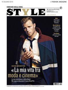 British actor David Frampton cover of Style Italia