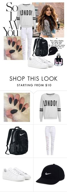 """My style"" by minela-a ❤ liked on Polyvore featuring ONLY, NIKE, adidas and Yves Saint Laurent"