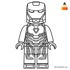 Coloring page for Kids - How to draw Lego Iron Man Lego Movie Coloring Pages, Hulk Coloring Pages, Avengers Coloring Pages, Superhero Coloring Pages, Spiderman Coloring, Marvel Coloring, Disney Coloring Pages, Coloring Pages To Print, Coloring Sheets