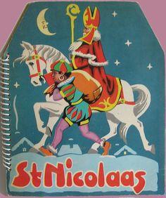 St Nicolaas, 1950. Pop-up boek, spiraalrug