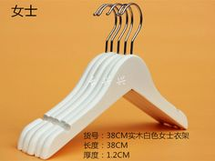 Sainwin 10pcs/lot 38cm Women Wooden Hangers for Clothes Women's Wood Solid Shirt Hanger Rack - ICON2 Luxury Designer Fixures  Sainwin #10pcs/lot #38cm #Women #Wooden #Hangers #for #Clothes #Women's #Wood #Solid #Shirt #Hanger #Rack