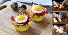 Ecco la ricetta passo passo per preparare dei nidi di patate al prosciutto e uova di quaglia