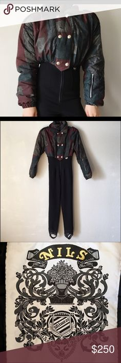 Vintage Skiwear Jumpsuit Vintage Skiwear Jumpsuit▫️excellent condition! ▫️stirrup bottoms ▫️size 8 ▫️made in USA ▫️(3) large pockets: 1-inside, 1-outside, 1-on arm ❄please ask questions prior to purchase & request additional photos ❄with all vintage items there may be signs of age & use-only severe/impactful issues will be noted ❄items should always be cleaned before wear & use **original price confirmed by the original owner** Vintage Pants Jumpsuits & Rompers