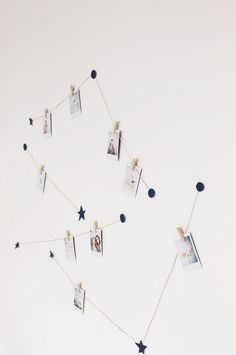 vanilla craft blog: video // diy instax constellation display