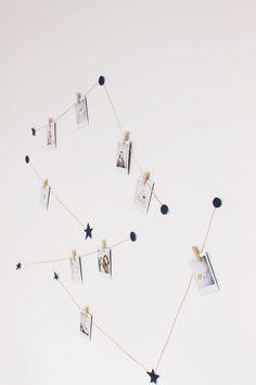 vanilla craft blog: video // diy instax constellation display