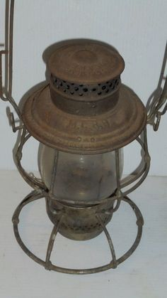 Antique Early Maine Central Railroad Lantern Adlake Reliable