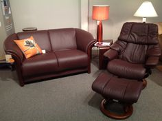 Manhattan Loveseat with Reno Recliner, Available at Scanhome Furnishings in Green Bay.
