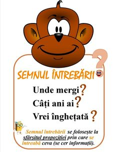 Semne de punctuație -Semnul întrebării Visual Perceptual Activities, Romanian Language, Homework Sheet, Little Einsteins, Teacher Supplies, School Staff, School Lessons, English Lessons, Education Quotes