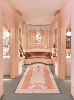 art deco Interior Design Style - BúsquedadeGoogle Estilo Art Deco, Arte Art Deco, Interiores Art Deco, Miami Art Deco, Summer Deco, Pop Up Art, Art Deco Stil, Art Deco Home, Art Deco Decor