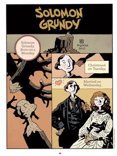 Solomon Grundy nursery rhyme by Mike Mignola