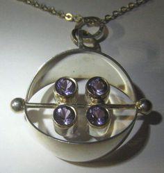 STERLING PENDANT, AMETHYSTS, ELIS KAUPPI, KUPITTAAN KULTA, FINLAND, 70´s | Jewelry & Watches, Vintage & Antique Jewelry, Fine | eBay!